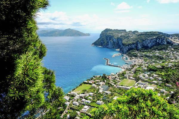 Capri Photograph - View To Marina Grande, Capri, Campania by Arnt Haug / Look-foto