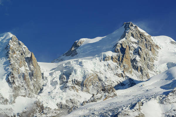 Chamonix Wall Art - Photograph - View To Mont Blanc Du Tacul And Mont by Andreas Strauss / Look-foto