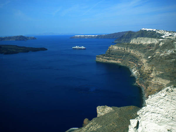 Photograph - View To Santorini Island Greece  by Colette V Hera  Guggenheim