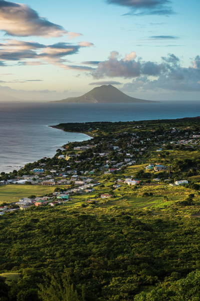 St Kitts Photograph - View To St. Eustatius From Brimstone by Michael Runkel / Robertharding