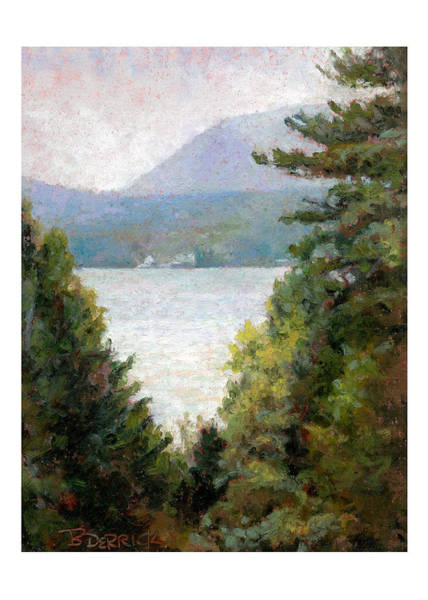 Pastel - View To The Lake I by Betsy Derrick