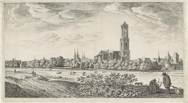 Wall Art - Painting - View Utrecht Plate II, Herman Saftleven by Herman Saftleven