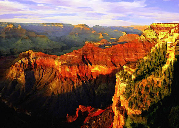Wall Art - Painting - View - Yavapai Point by Bob and Nadine Johnston
