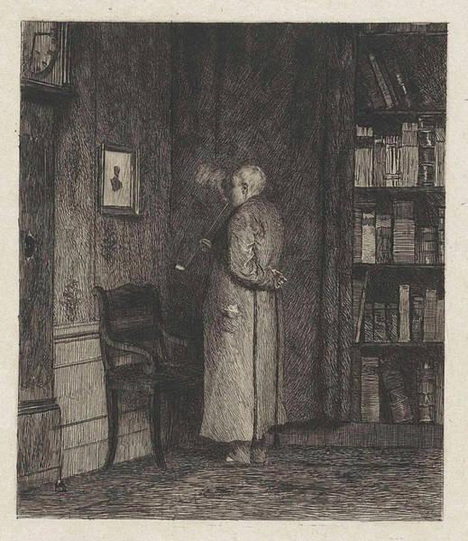 Grandfather Clock Painting - Viewing A Portrait, Willem Steelink II by Willem Steelink (ii)