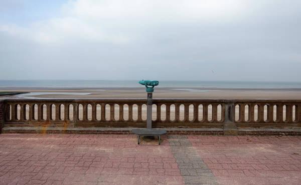 Binoculars Photograph - Viewpoint At An Empty Beach by Julio Lopez Saguar