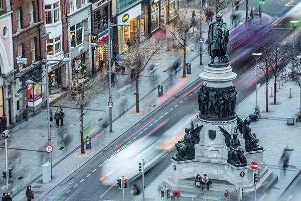 City Of David Photograph - Viewpoint Over Oconnell Street, Dublin by David Soanes Photography