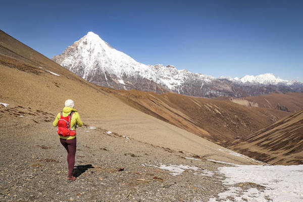 Snowman Photograph - Views From Nyilila Pass, Snowman Trek by Suzanne Stroeer