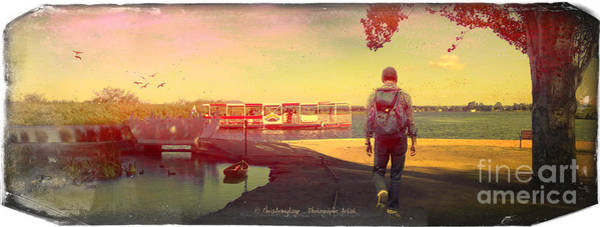 Digital Art - Views From The Lake Vi - The Hiker by Chris Armytage