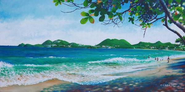Painting - Vigie Beach - St. Lucia by Christopher Cox