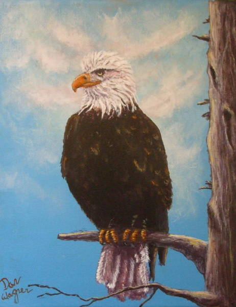 Painting - Vigilant Eagle by Dan Wagner