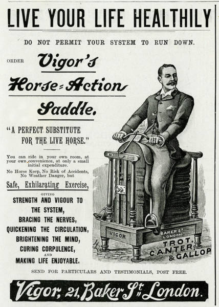 Wall Art - Drawing - Vigor's Horse-action Saddle by  Illustrated London News Ltd/Mar