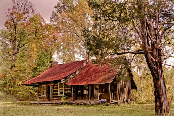 Chilhowee Photograph - Viintage Cabin by Debra and Dave Vanderlaan