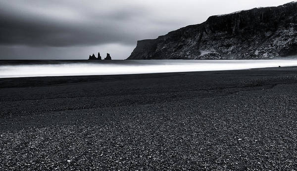 Black Sea Photograph - Vik And The Black Sand by Julien Oncete