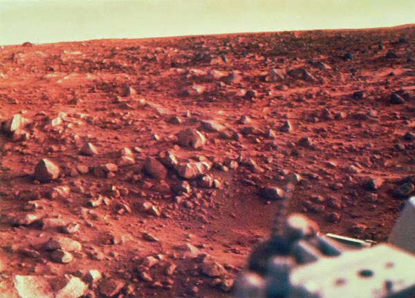 Imagery Photograph - Viking I Photo Of Mars Terrain by Nasa/science Photo Library