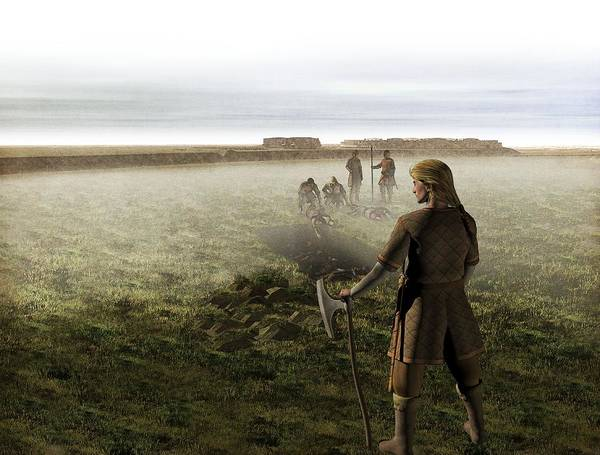 Wall Art - Photograph - Viking Mass Grave, Artwork by Science Photo Library