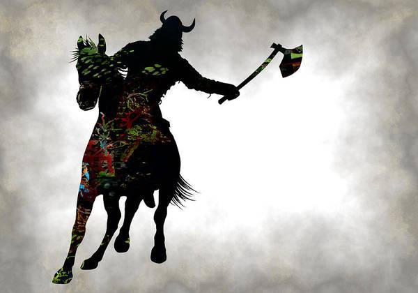 Iceland Digital Art - Viking Warrior On Horseback by Daniel Hagerman