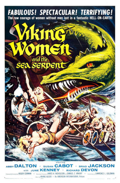 Film Star Photograph - Viking Women And The Sea Serpent Poster by Gianfranco Weiss