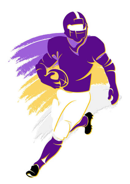 Purple Photograph - Vikings Shadow Player2 by Joe Hamilton