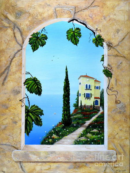 Painting - Villa By The Sea by Mary Scott