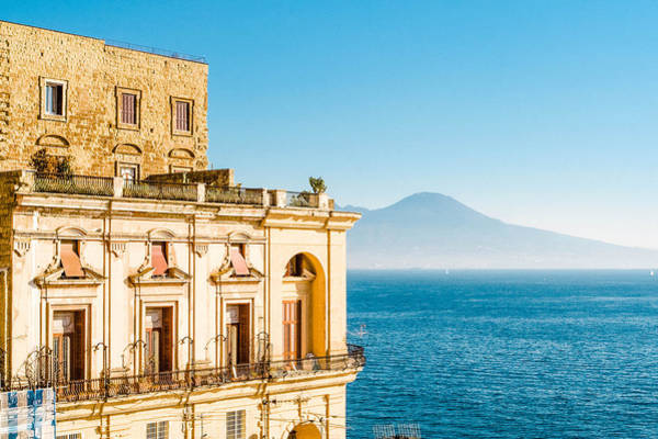 Villa Donnanna, Bay Of Naples, Italy Art Print