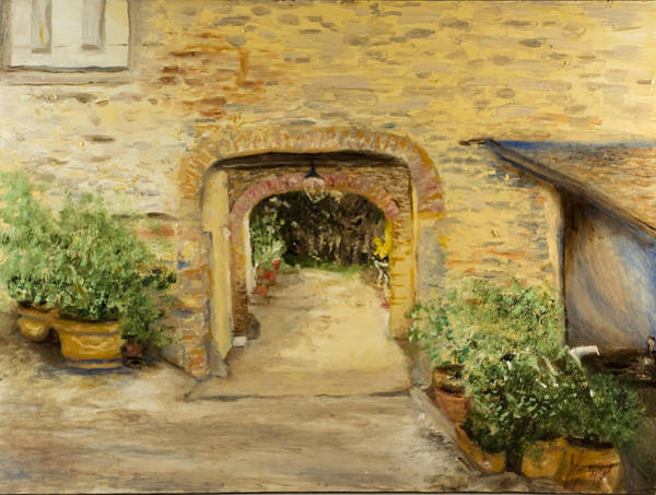 Painting - Villa In Italy by Kathy Knopp