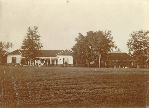 Villa Drawing - Villa With A Lawn Before In The Dutch East Indies by Artokoloro