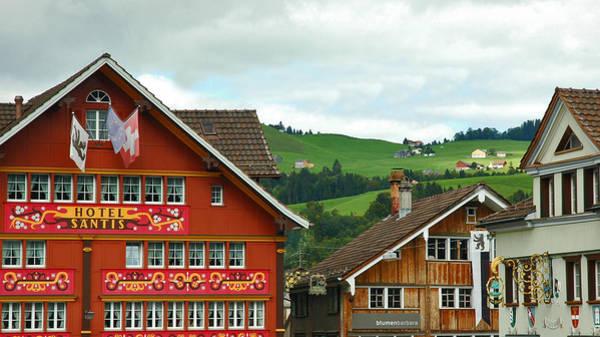 Photograph - Hotel Santis And Hillside Of Appenzell Switzerland by Ginger Wakem