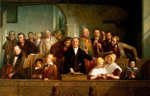 Choral Wall Art - Painting - Village Choir by Thomas Webster