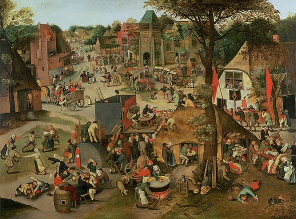 Fete Wall Art - Painting - Village Festival In Honour Of St by Pieter the Younger Brueghel