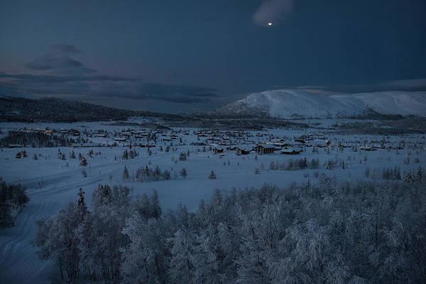 Lillehammer Photograph - Village In Winter Snow Landscape At by Betsie Van Der Meer