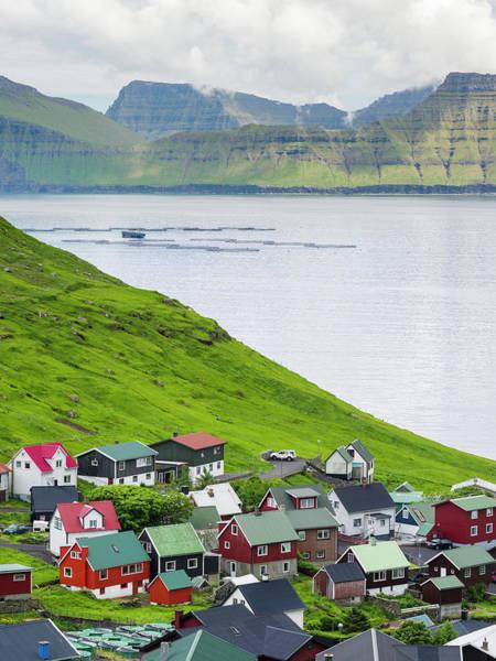 Faroe Island Wall Art - Photograph - Village Of Funningur, Leiriksfjordur by Martin Zwick