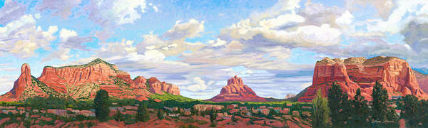 Sedona Painting - Village Of Oak Creek - Sedona by Steve Simon