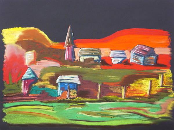 Fencepost Painting - Village Spire by Randy Gordin