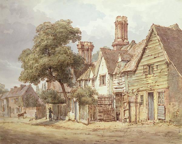 Tudor Photograph - Village Street by Anonymous