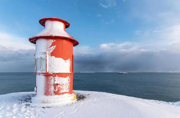 North Coast Harbor Photograph - Village Stykkisholmur by Martin Zwick