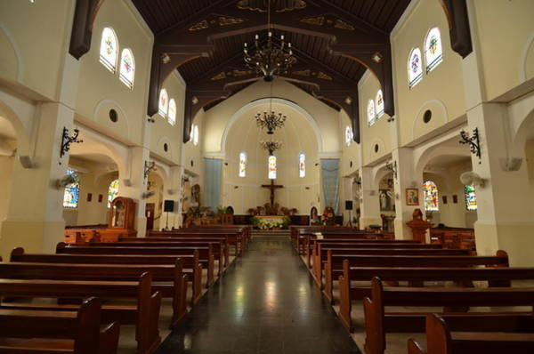 Photograph - Villalba Catholic Church Interior by Ricardo J Ruiz de Porras