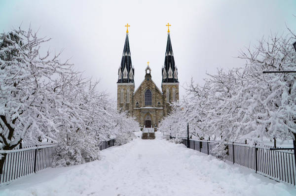 Wall Art - Photograph - Villanova University In The Snow by Bill Cannon