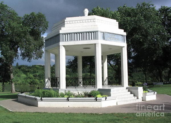 Photograph - Vimy Memorial Gazebo by Vivian Martin