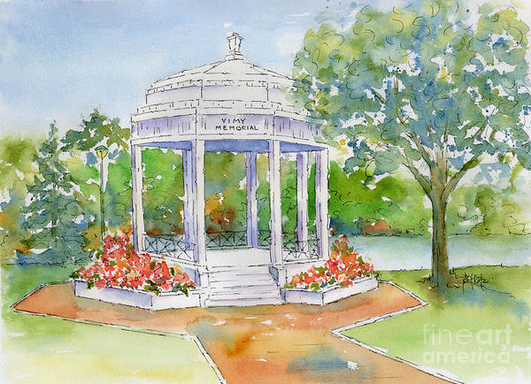 Painting - Vimy Memorial by Pat Katz