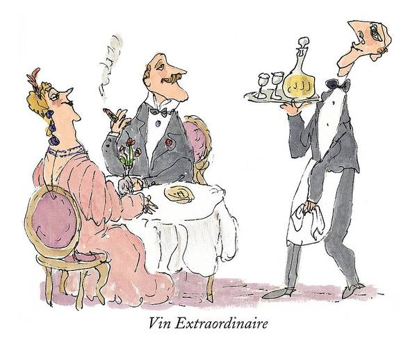Wealthy Drawing - Vin Extraordinaire by William Steig