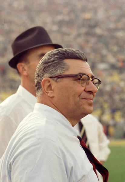 Wall Art - Photograph - Vince Lombardi Surveying The Field by Retro Images Archive