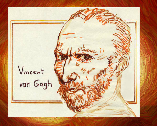 Drawing - Vincent by Hartmut Jager