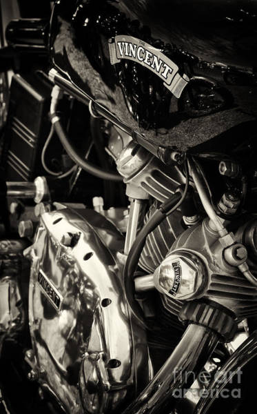 Photograph - Vincent Motorcycle by Tim Gainey