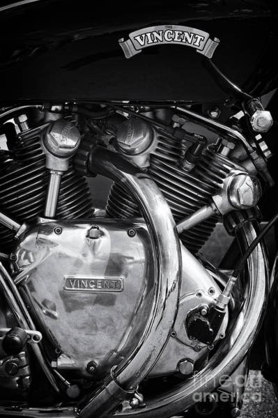 Photograph - Vincent Series C Black Shadow Engine by Tim Gainey