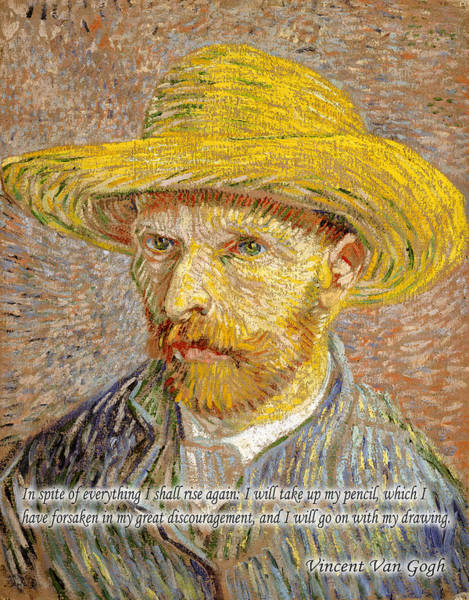 Photograph - Vincent Van Gogh Quotes 4 by Andrew Fare