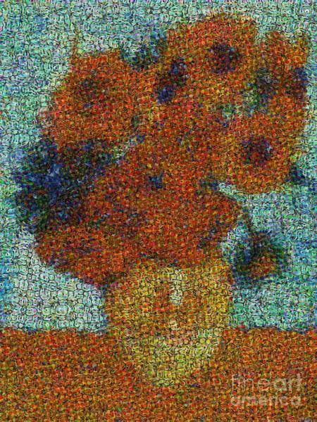 Photograph - Vincent Van Gogh Sunflowers 2.0 - V2 by Edward Fielding
