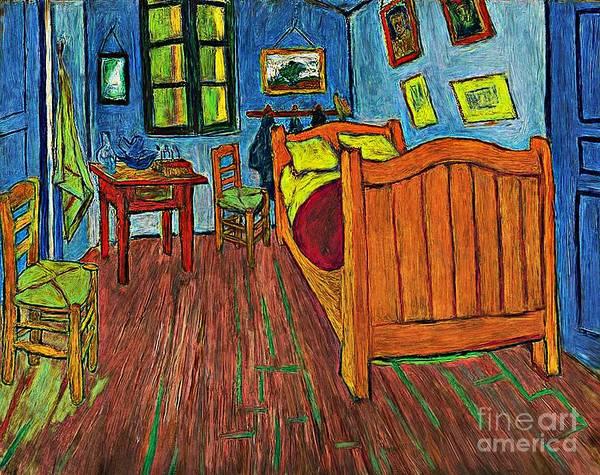 Photograph - Vincents Bedroom by John  Kolenberg