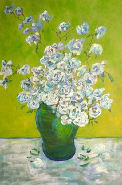 Wall Art - Painting - Vincents' Flowers by Marilyn Hurst