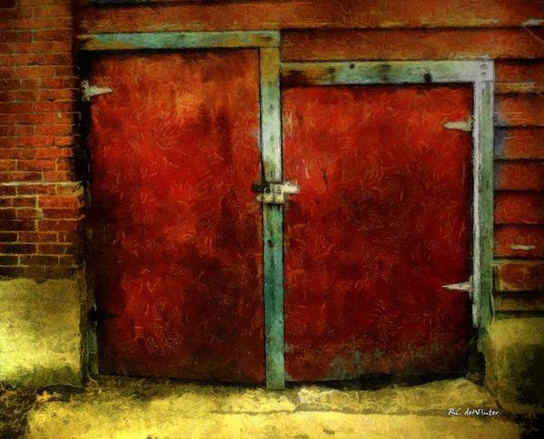 Painting - Vincent's Red Barn Doors by RC DeWinter
