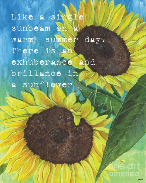 Wall Art - Painting - Vince's Sunflowers 1 by Debbie DeWitt